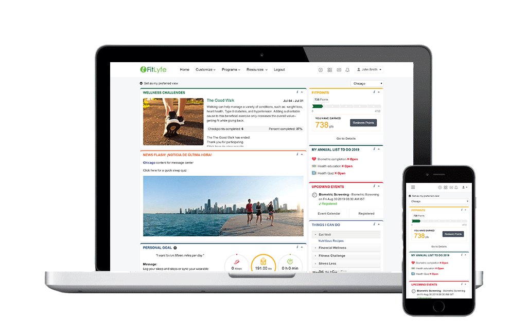 FitLyfe 360 Wellness Platform for employees